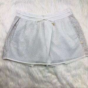 NWT Nike White Mesh & Grey Skort | Tennis Skirt